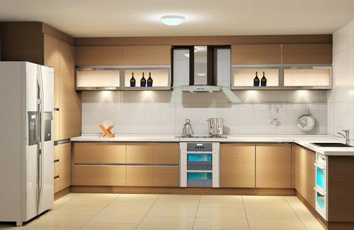 П-образная планировка кухни, интерьер кухни