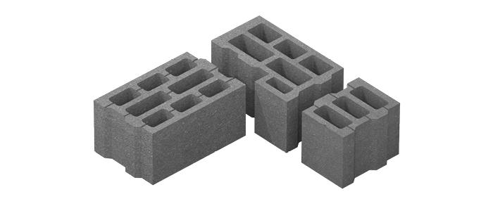 Стеновой блок паз-гребень