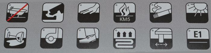 Обозначения на упаковке ламината Aberhof