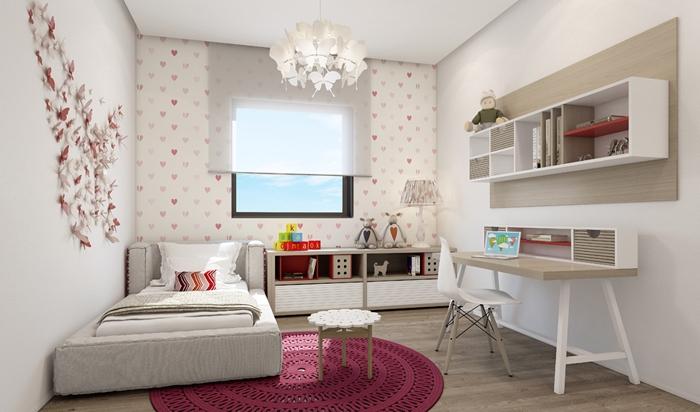 современный интерьер комнаты для девочки