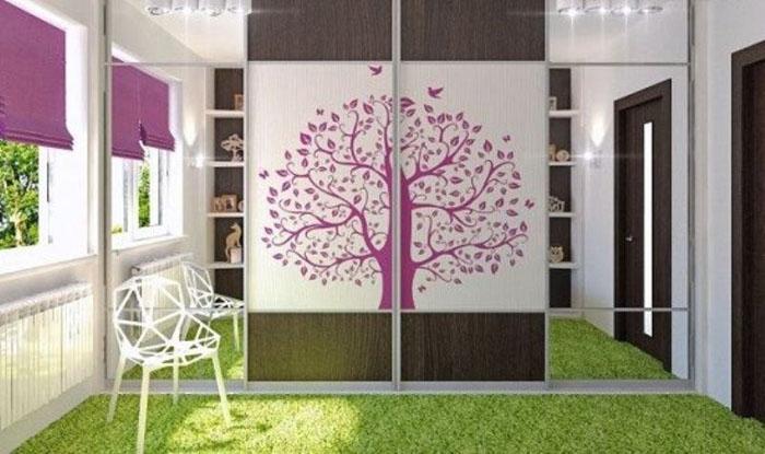 Пример яркого дизайна комнаты для девочки подростка