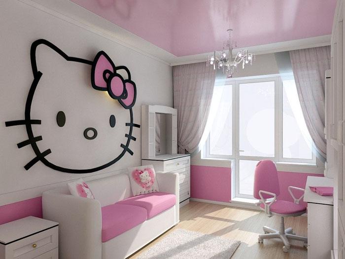 Дизайн комнаты для девочки в стиле Hello Kitty