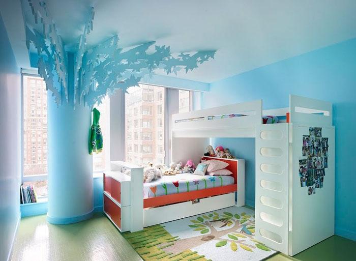 Пример уютного интерьера комнаты для двух девочек