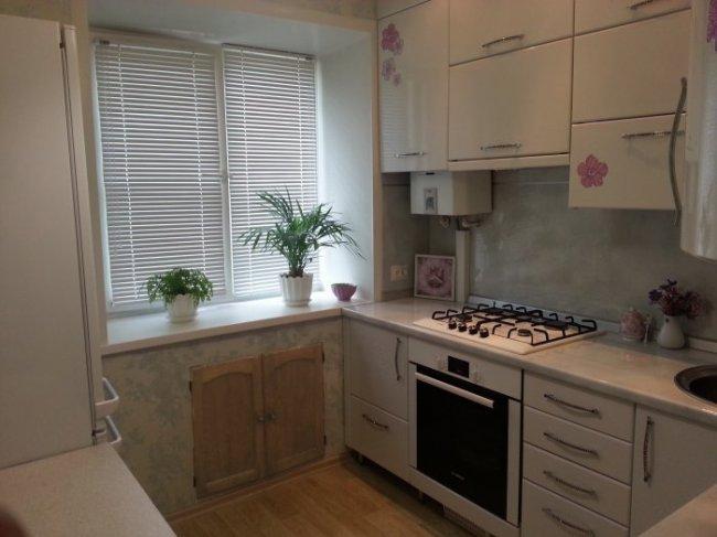 Планировка интерьера маленькой кухни в хрущёвке