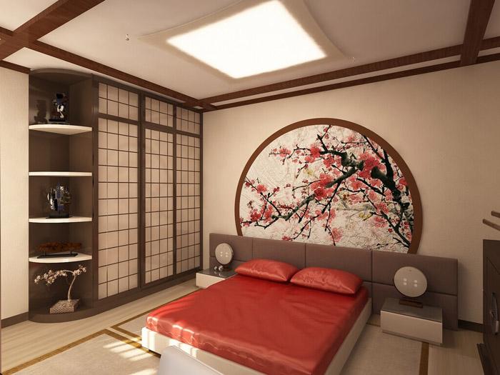 Дизайн спальни в японском стиле: простота и функциональность