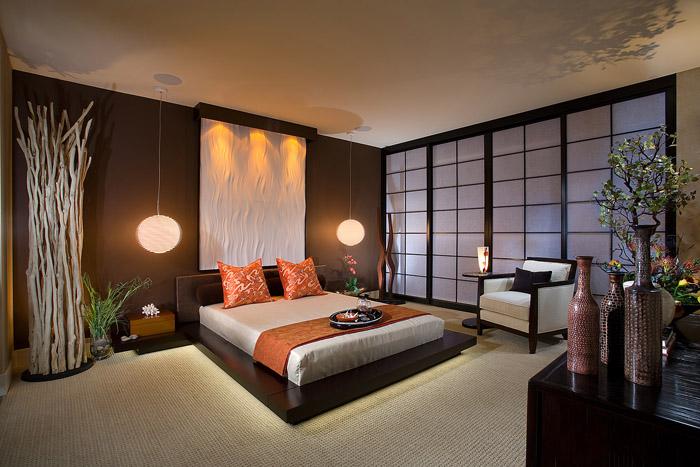 Дизайн спальни в японском стиле - фото №6