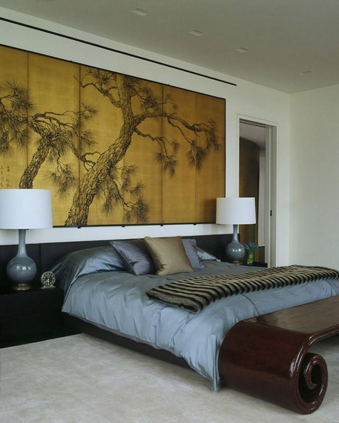 Дизайн спальни в японском стиле - фото №2
