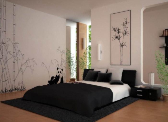 Дизайн спальни в японском стиле - фото №7