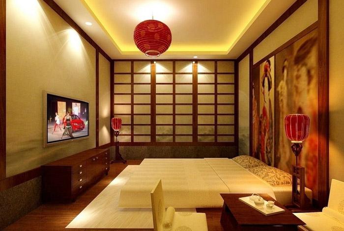 Дизайн спальни в японском стиле - фото №9