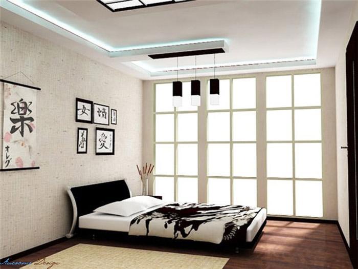 Дизайн спальни в японском стиле - фото №4