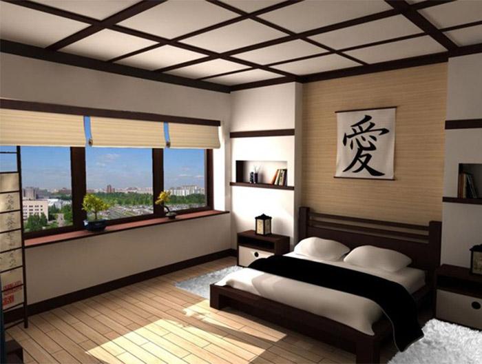 Дизайн спальни в японском стиле - фото №3