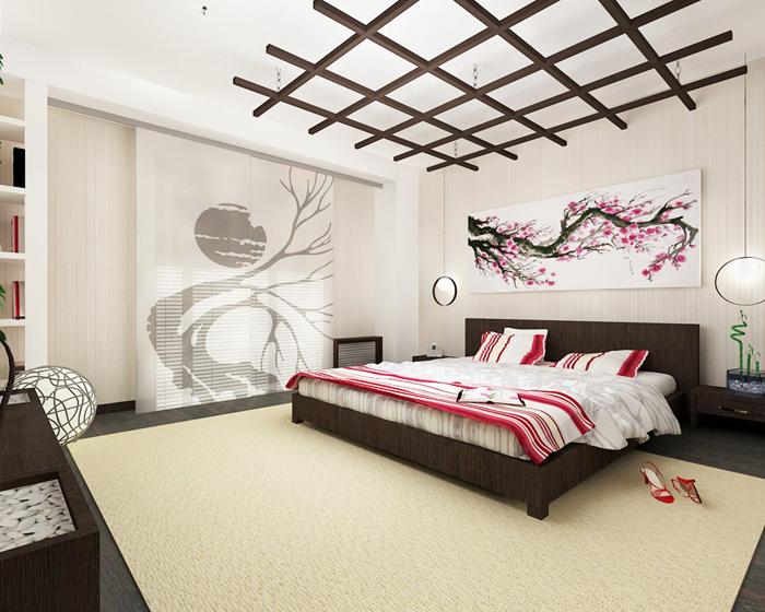 Традиционные цвета в интерьере в японском стиле