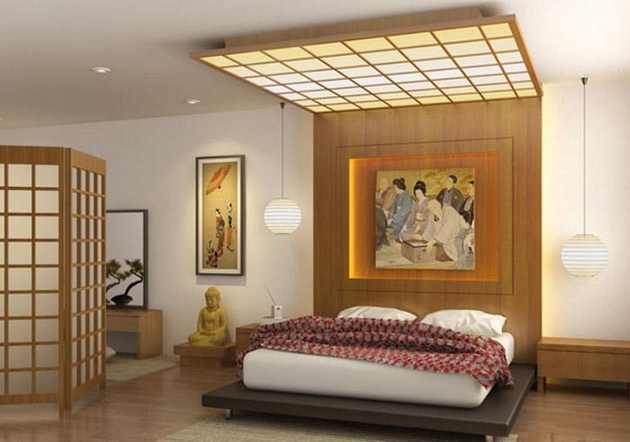 Спальня в японском стиле: элементы декора