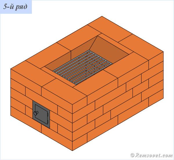 Порядовка отопительной печи ПТО-2300, 5-й ряд