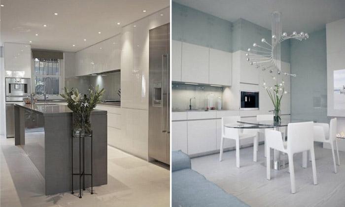 Варианты освещения кухни в стиле минимализм