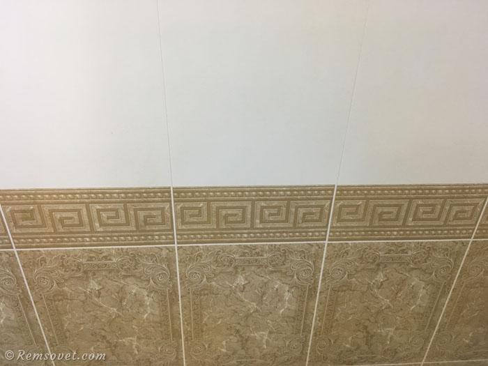 Пример использования пластиковых панелей в интерьере ванной комнаты