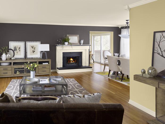 Сочетание серого и бежевого цвета в интерьере