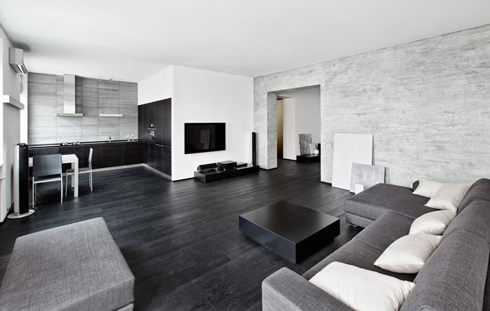 Дизайн интерьера в стиле минимализм с использованием ахроматических цветов
