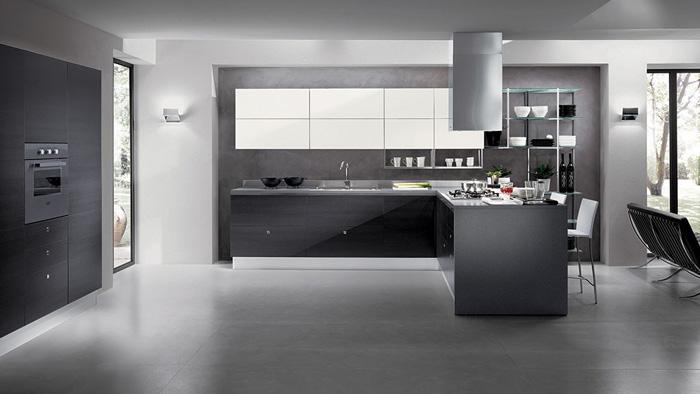 Серый оттенок в интерьере в стиле хай-тек