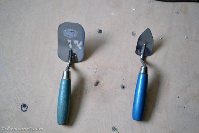 Шпатели, лопатки, монтаж натяжного потолка