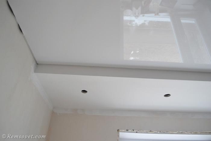 Монтаж полотна натяжного потолка своими руками