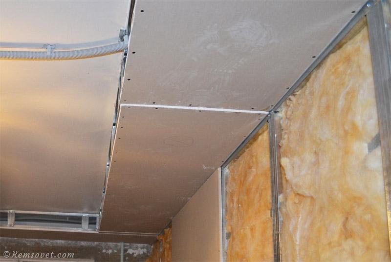 Как собрать потолочный короб из гипсокартона?