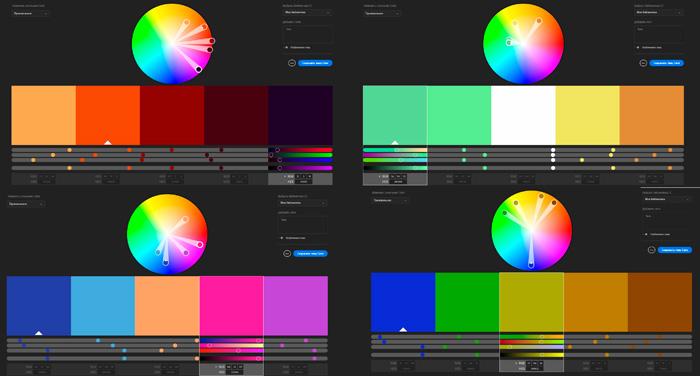 Создание цветовых палитр в программе Adobe Color CC