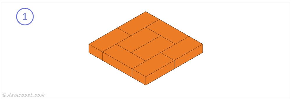 Малогабаритная отопительная печь: формирование основания