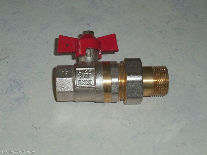 Шаровой кран для монтажа радиатора отопления