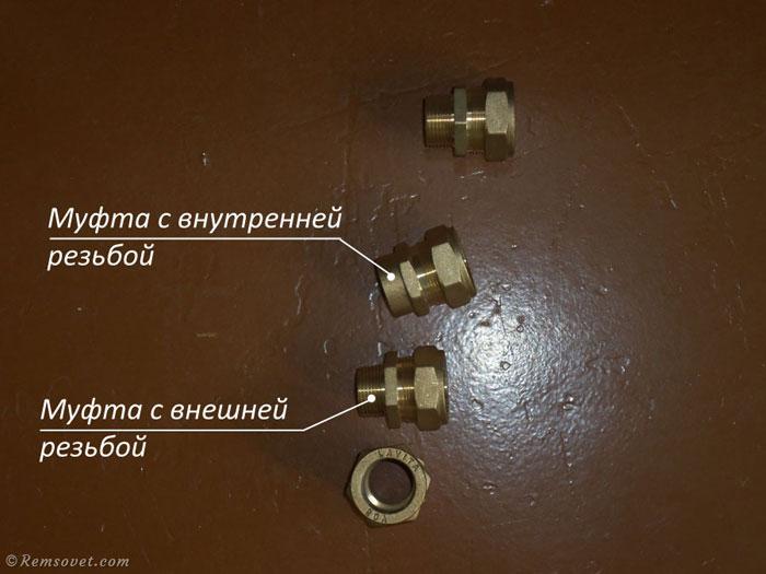 Соединительные муфты (фитинги) для гофрированной стальной трубы