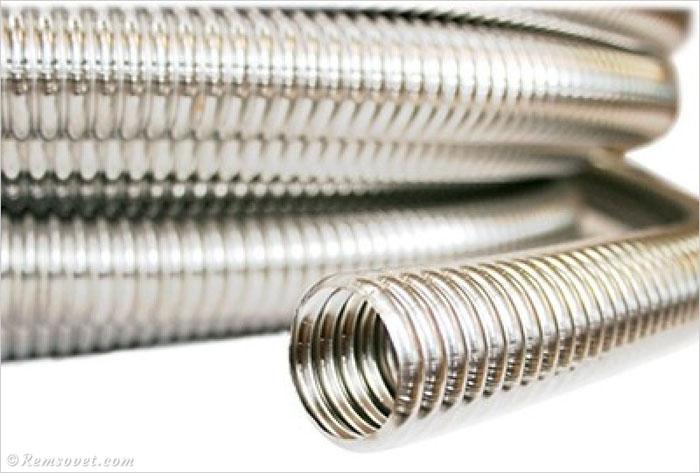 Стальная гофрированная нержавеющая труба для системы отопления