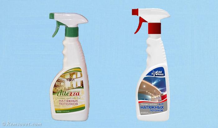 Специальные средства для чистки натяжных потолков: Altezza и EdelWeis