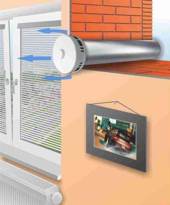 Улучшение циркуляции воздуха за счёт воздушного приточного клапана КИВ-125