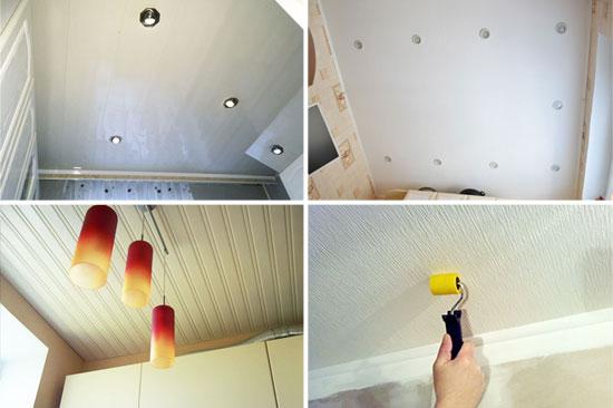 8 способов отделки потолка на кухне