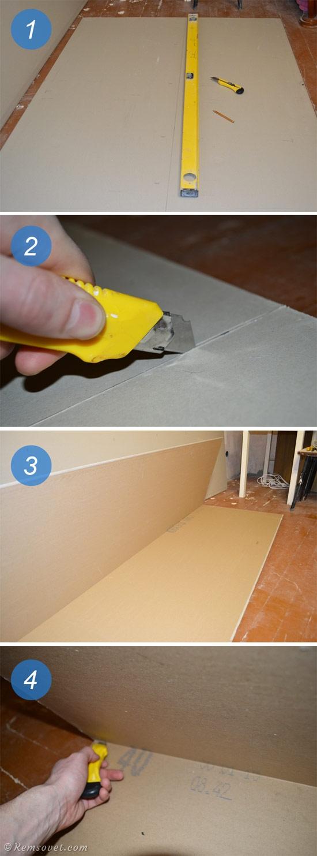 Как отрезать лист гипсокартона, пошаговая инструкция