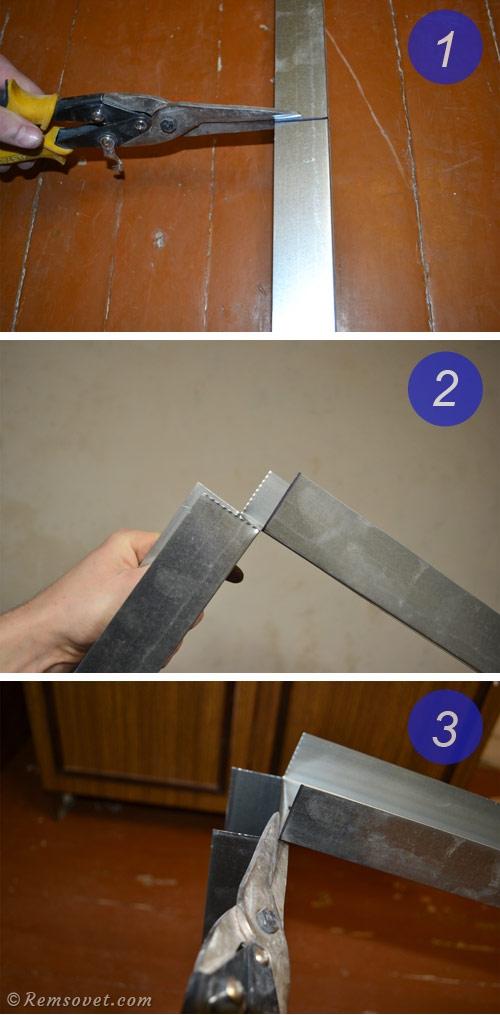Как отрезать профиль ножницами по металлу