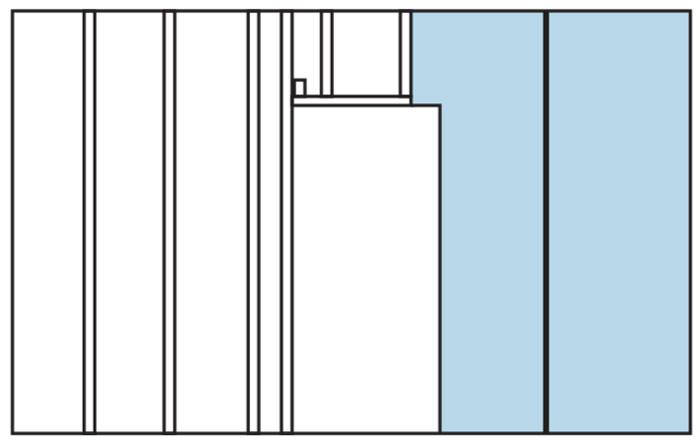 Схема обшивки каркаса листами гипсокартона в области дверного проёма