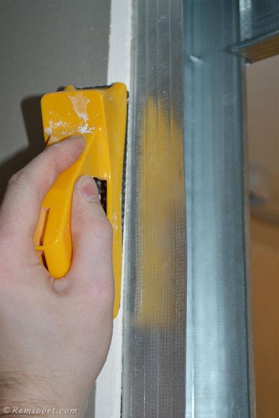 Как сделать фаску на листе гипсокартона