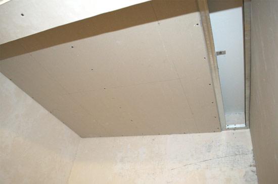 Потолок из гипсокартона и профилей своими руками