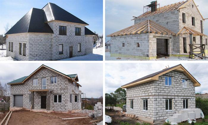 Фото домов из пеноблоков и газоблоков, постройки из пенобетона и газобетона