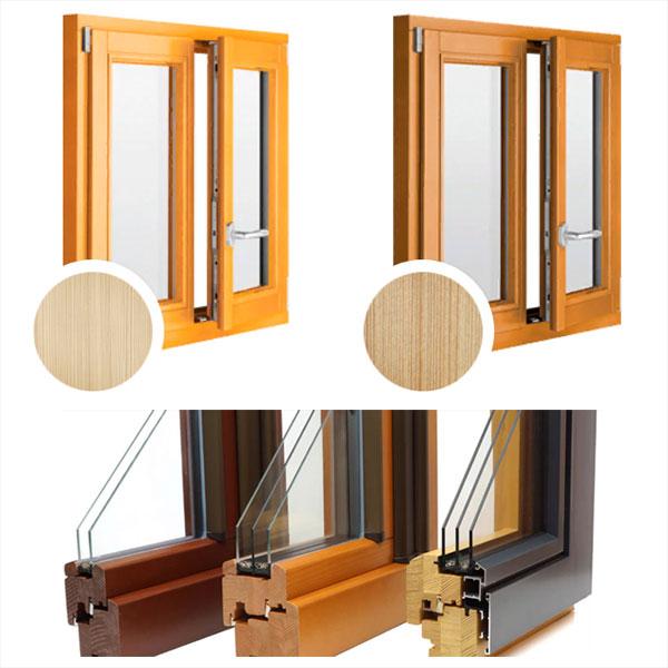Деревянные окна из лиственницы, сосны и дуба со стеклопакетом