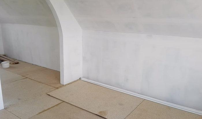 Шпаклёвка стен из ГКЛ под оклейку обоями
